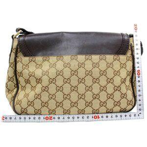 Auth Gucci Crossbody Bag Brown Gg Canvas #3479G22